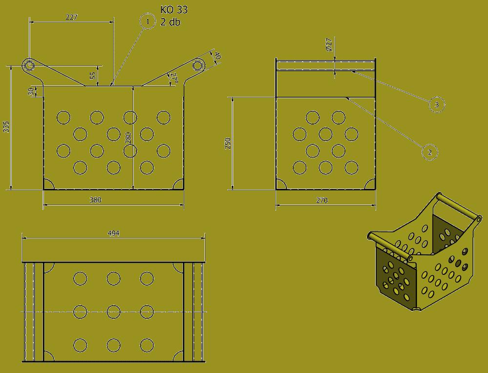 PBA-100MG Steel box for bottles