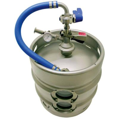 Equipment for manual filling beverages into kegs