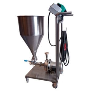 MP-90YSC : Mobile centrifugal pump 900W with yeast doser and speed control, Stainless steel