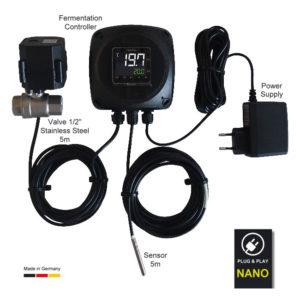 NANOFIX : Single tank temperature controller – full set with thermo sensor and regulation valve