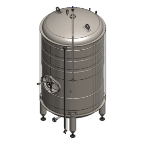 MBTVI-100C Cylindrical pressure tank for the secondary fermentation of beer or cider (maturation, carbonization), vertical, insulated, 100/120L, 3.0bar