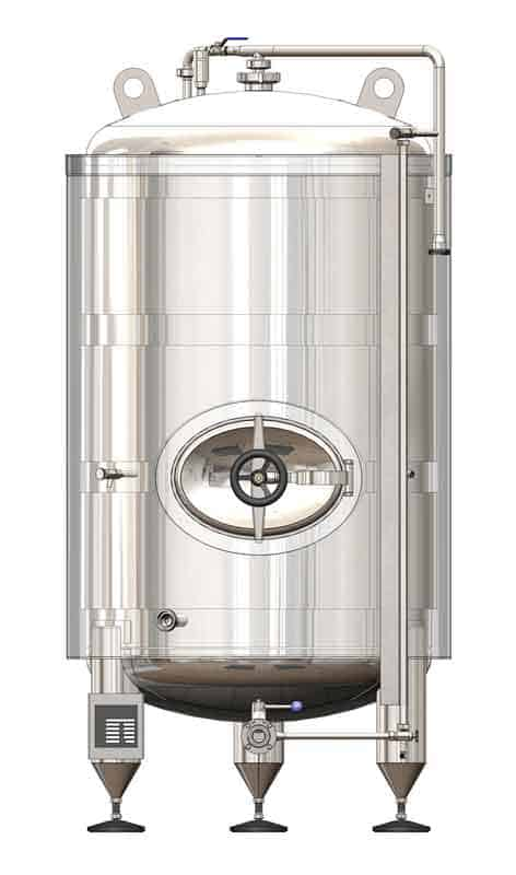 BBTVI 800 01 - MBTVI-800C Cylindrical pressure tank for the secondary fermentation of beer or cider (maturation, carbonization), vertical, insulated, 800/959L, 3.0bar