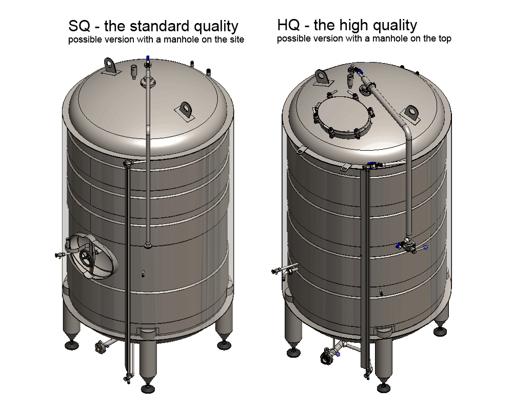 BBTVI HQ SQ designes 1000x800 - BBTVI-12000C Cylindrical pressure tank for storage and final conditioning of carbonated beverage before bottling, vertical, insulated, 12000/13468L, 3.0bar