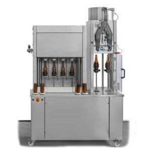 BFSA-MB442 Poloautomatický stroj na oplachování, plnění a uzavírání lahví 4-4-2