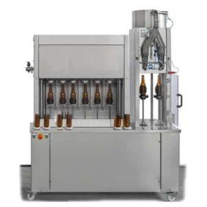 BFSA-MB662 Poloautomatický stroj na oplachování, plnění a uzavírání lahví 6-6-2