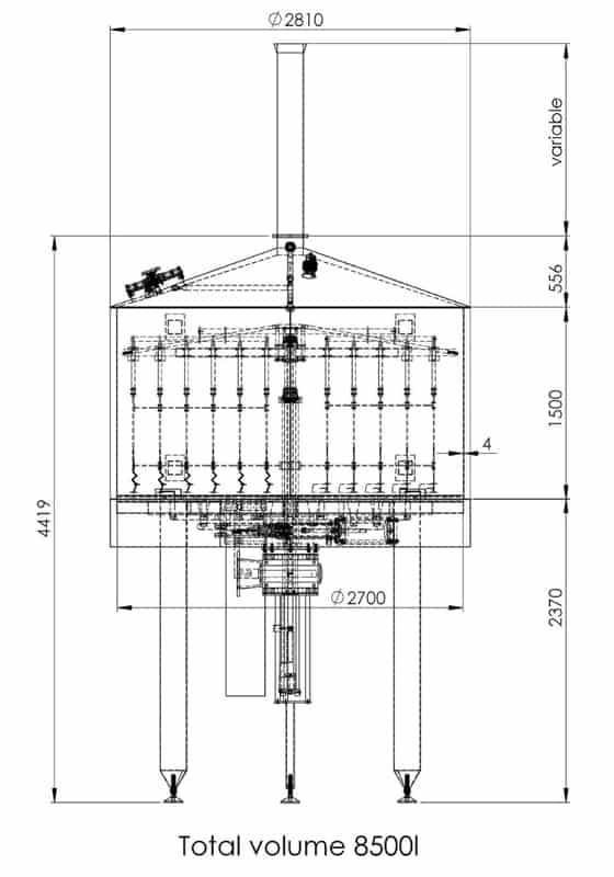 BH BWOP 6000 lautering tank 03 dim - BREWORX OPPIDUM 6000 : Wort brew machine - the brewhouse