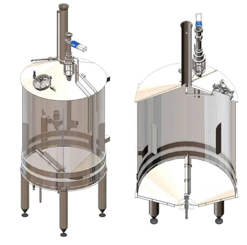 BH BWOP 6000 mash tank 01 - BREWORX OPPIDUM 6000 : Wort brew machine - the brewhouse