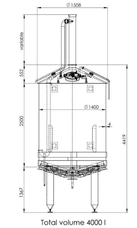 BH BWOP 6000 mash tank 02 dim - BREWORX OPPIDUM 6000 : Wort brew machine - the brewhouse