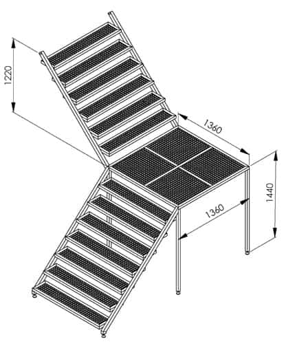 BH BWOP 6000 service stairs 01 - BREWORX OPPIDUM 6000 : Wort brew machine - the brewhouse