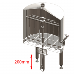 BH OPT ELS electric lift stirrer 150x150 - BREWORX CLASSIC-ECO 300 : Wort brew machine - the brewhouse - bce, bwm-bce