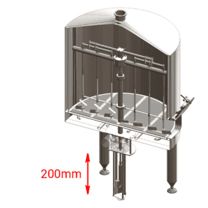 BH-OPT-ELS3 Manual or electric lift of the knife-stirrer in the filtering tank 300L
