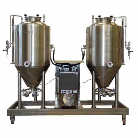FUIC kvasná jednotka - kompaktní systém s pivními fermentory a chladící jednotkou