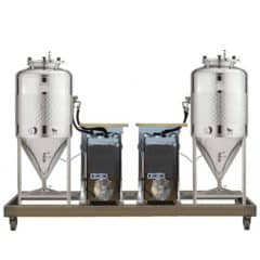 FUIC-SLP2C-2x600CCT – Fermentation & maturation self-cooled unit 2×600/625 liters 1.2 bar