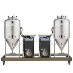 FUIC-SLP2C-2x600CCT - Fermentatioun & Reiwung selbstgekühlt Eenheet 2 × 600 / 625 Liter 1.2 Bar