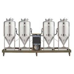 FUIC-SHP1C-4x500CCT – Fermentation & maturation self-cooled unit 4×500/625 liters 2.5bar