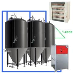 CFSCC1-8xCCT3000C Complete set for the fermentation of beer with 8x CCT-3000C, central control cabinet