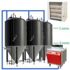 CFSCC2-10xCCT500C Complete set for the fermentation of beer with 10x CCT-500C, central control cabinet