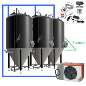 OT1Z : Complete fermentation sets with controller on each tank, tanks with one cooling zone