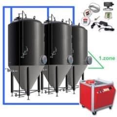 CFSOT1-6xCCT2000C Complete set voor de fermentatie van bier met 6x CCT-2000C, controle op de tank