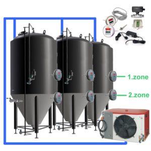 OT2Z OT1Z - CFS mit Temperaturregler an jedem Tank, Tanks mit zwei Kühlzonen
