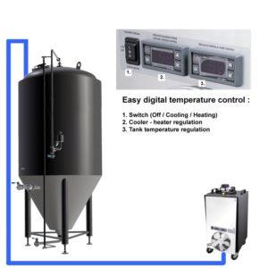 CT1 Ein Kühler zu einem Tank (CCT 3.0 Bar)