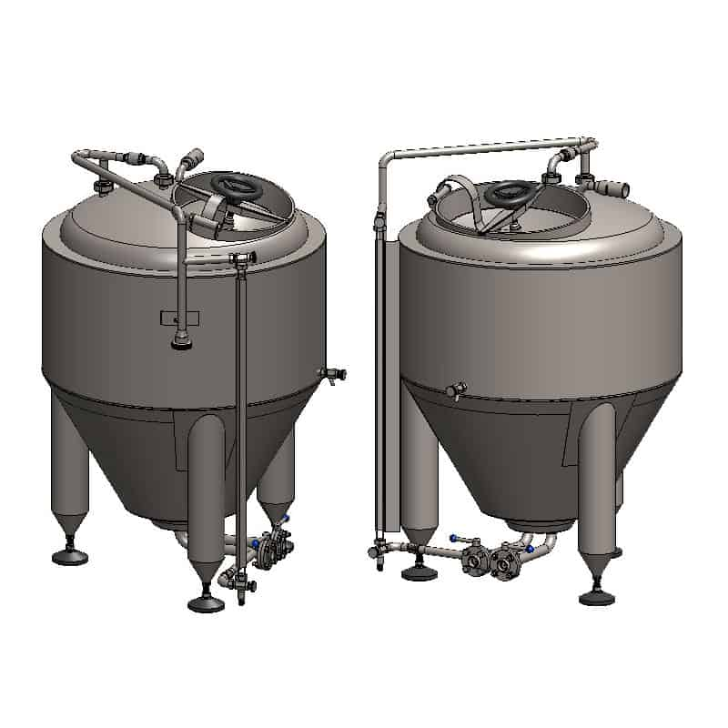 CCT 100C 800x800 01 - CCT-150C Cylindrically-conical fermentation tank CLASSIC, insulated, 150/180L - cmti, ccti, classic
