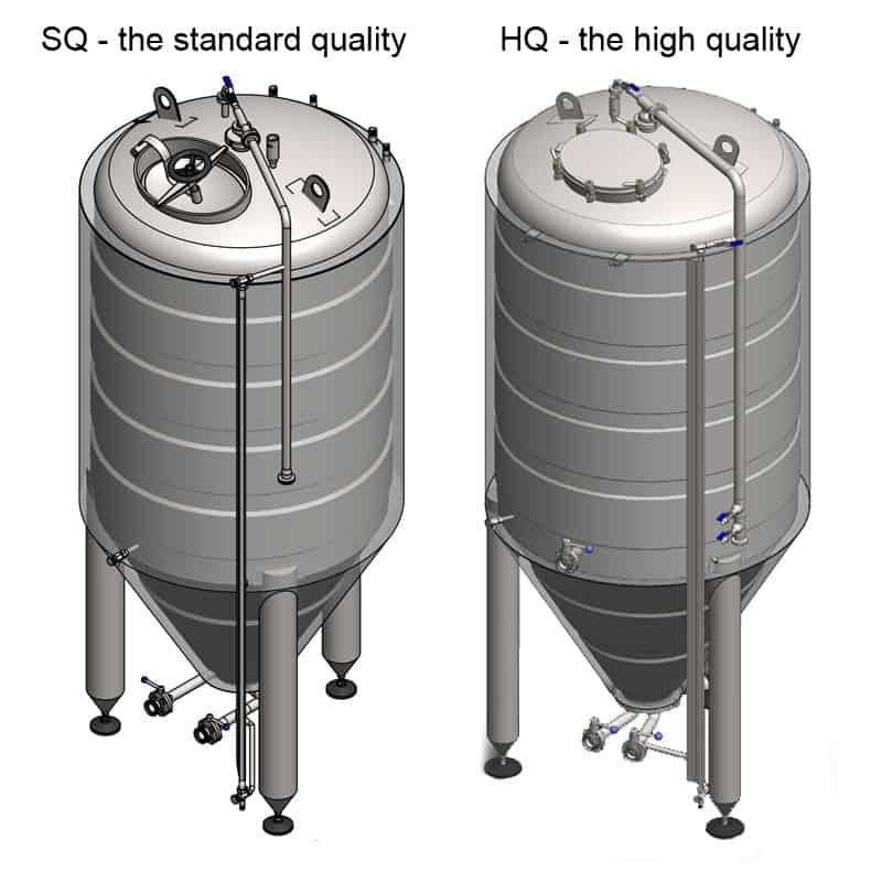 CCT 2000 SQ HQ 800x800 - CCT-20000C Rezervuar fermentimi cilindrik-konik CLASSIC, i izoluar, 20000 / 22190L