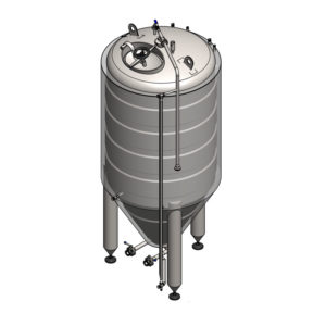 CCT-650C Cylindrically-conical fermentation tank CLASSIC, insulated, 650/780L