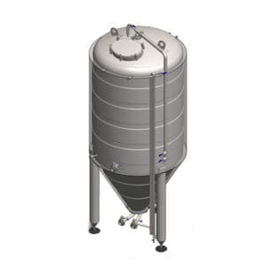 CCT-1200C Cylindrically-conical fermentation tank CLASSIC, insulated, 1200/1473L
