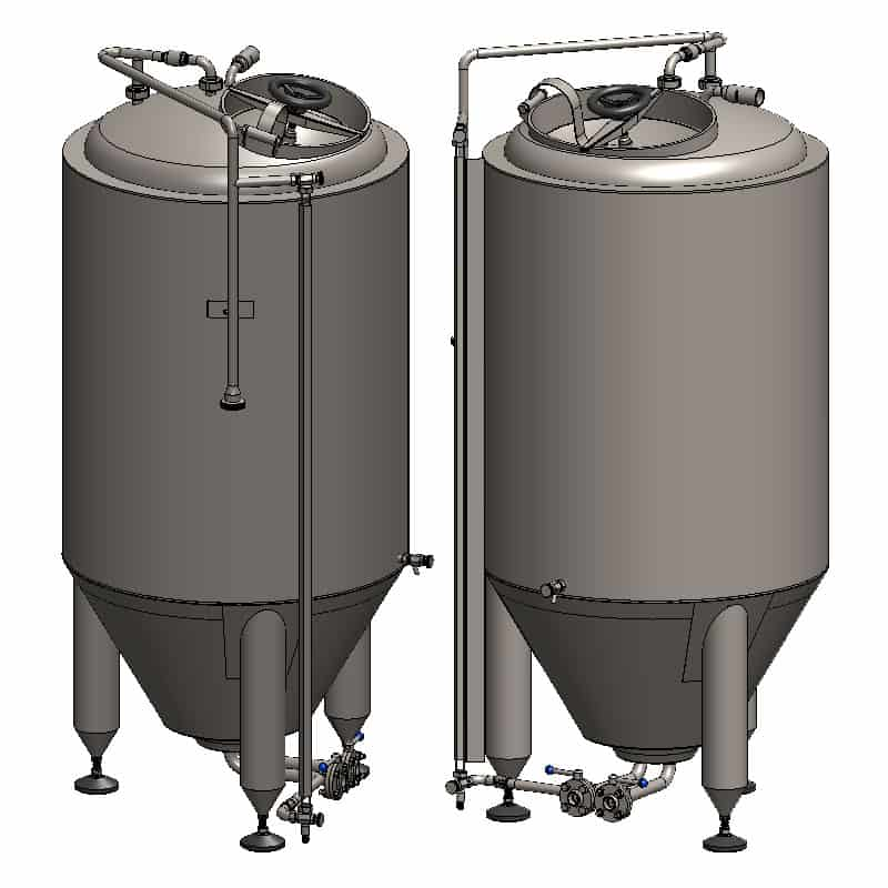 CCT 400C SQ 800x800 4 - CCT-300C Cylindrically-conical fermentation tank CLASSIC, insulated, 300/353L