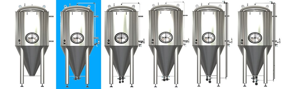 CCT M modular cylindrical conical tanks allsets A1 1000x300 - CCTM-1200A1 Modular cylindrically-conical fermentation tank 1200/1473 L