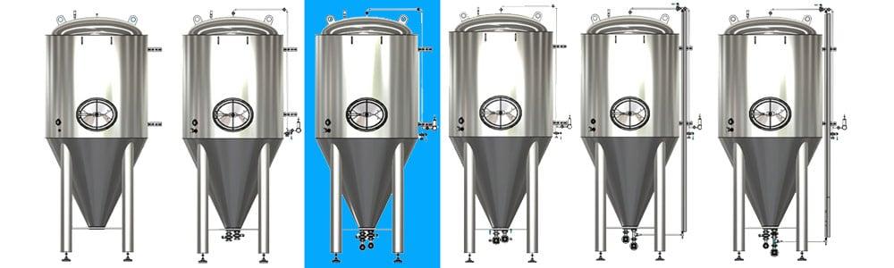 CCT M modular cylindrical conical tanks allsets A2 1000x300 - CCTM-2000A2 Modular cylindrically-conical fermentation tank 2000/2203 L
