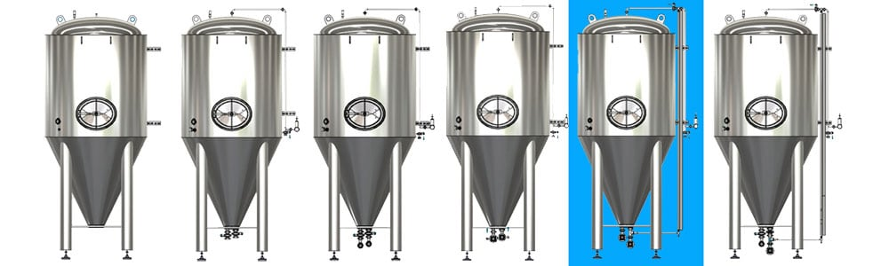 CCT M modular cylindrical conical tanks allsets B1 1000x300 - CCTM-750B1 Modular cylindrically-conical fermentation tank 750/852 L