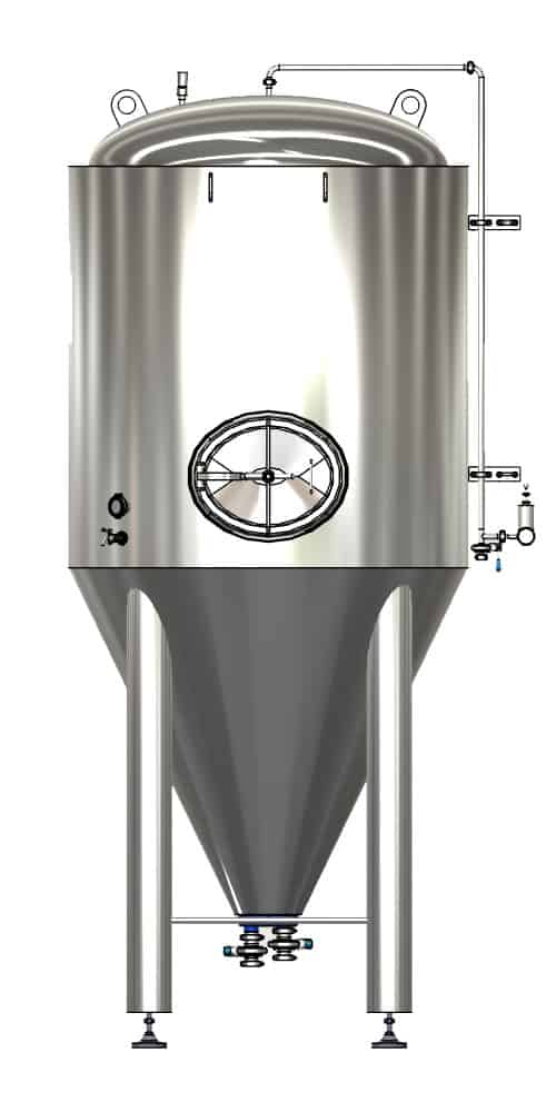 CCTM A1 001 1000x500 - CCTM-2000A1 Modular cylindrically-conical fermentation tank 2000/2400 L - a1, a1sets