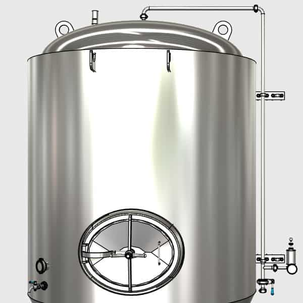 CCTM A2 009 600x600 - CCTM-1500A2 Modular cylindrically-conical fermentation tank 1500/1865 L - a2, a2sets