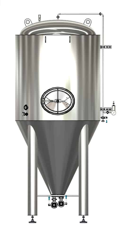 CCTM A3 001 1000x500 - CCTM-600A3 Modular cylindrically-conical fermentation tank 600/654 L