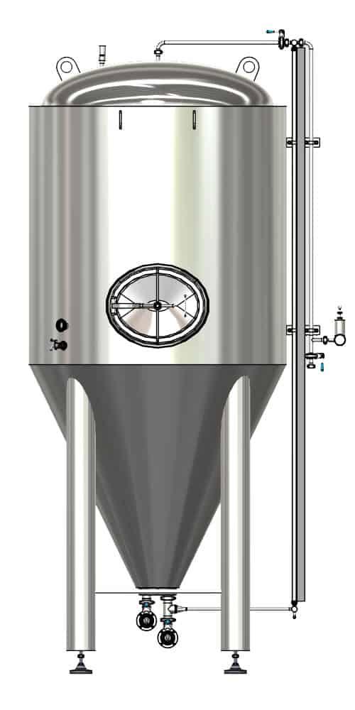 CCTM B1 001 1000x500 - CCTM-1200B1 Modular cylindrically-conical fermentation tank 1200/1473 L - b1, b1sets