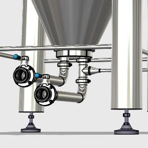 CCTM B1 008 300x300 - CCTM-600B1 Modular cylindrically-conical fermentation tank 600/654 L - b1, b1sets