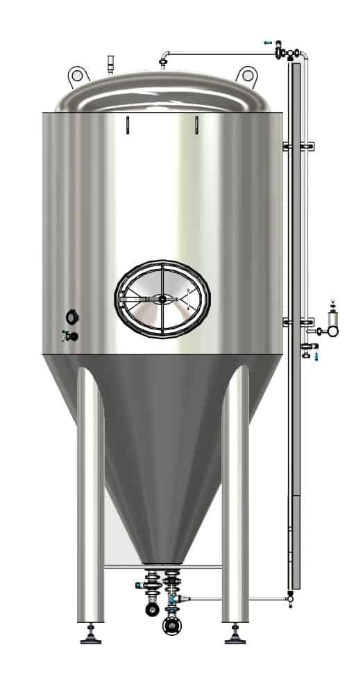 CCTM B2 001 1000x500 - CCTM-1200B2 Modular cylindrically-conical fermentation tank 1200/1473 L