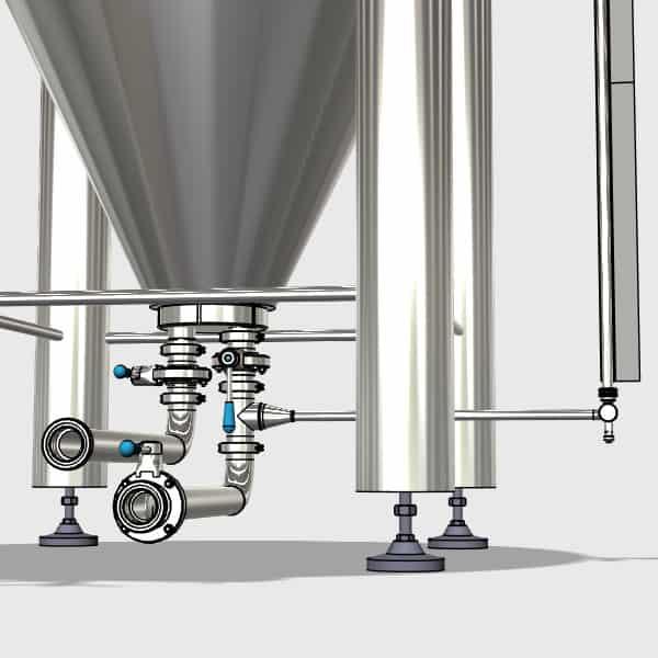 CCTM B2 008 600x600 - CCTM-1200B2 Modular cylindrically-conical fermentation tank 1200/1473 L