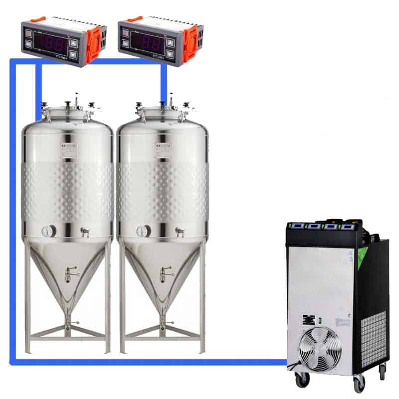 CFS 1ZS Complete beer fermentation sets simplified CLC 4 2T 01 - CFSCT1-1xCCT2000C Complete fermentation set with 1x CCT-2000C