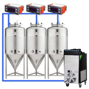 CFS1C-CCT-100 : Complete fermentation sets with conical fermentors 100 L