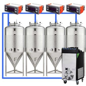 CFSCT1-4xCCT100SLP : Complete fermentation set with 4xCCT-SLP 120 liters