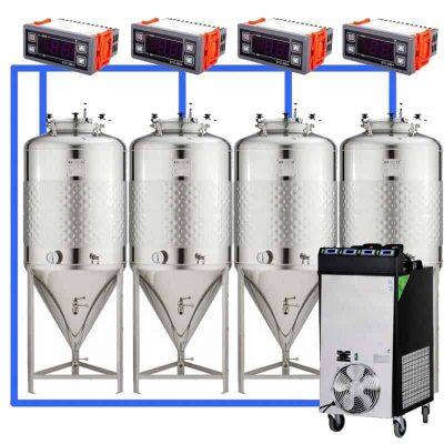 CFS1C: Pilnas fermentacijos rinkinys su supaprastintais fermentoriais