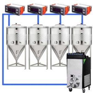 CFSCT1-4xCCT100SNP : Complete fermentation set with 4xCCT-SNP 120 liters