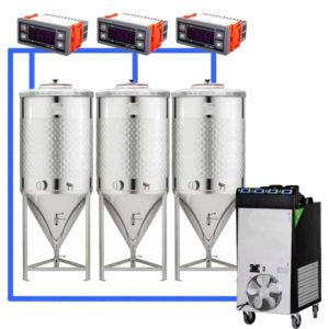 CFSCT1-3xCCT200SNP : Complete fermentation set with 3xCCT-SNP 240 liters
