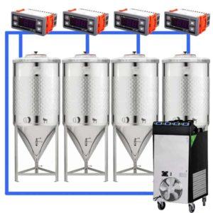 CFSCT1-4xCCT500SNP : Complete fermentation set with 4xCCT-SNP 625 liters