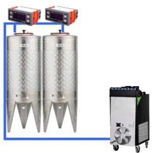 CFSCT1-2xCFT100SNP : Complete fermentation set with 2xCFT-SNP 120 liters
