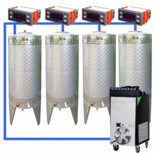 CFSCT1-4xCFT200SNP : Complete fermentation set with 4xCFT-SNP 240 liters