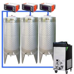 CFSCT1-3xCFT500SNP : Complete fermentation set with 3pcs of CFT-SNP 625 liters, direct cooling